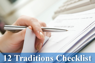 12 Traditions Checklist A.A.